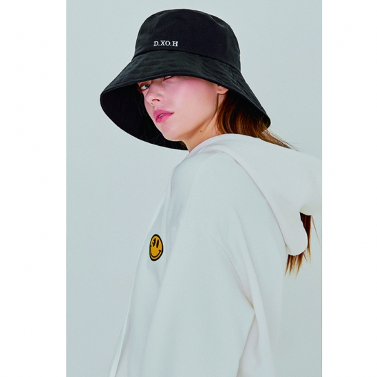 logo bucket hat [black]