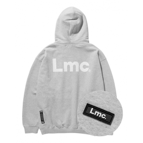 LMC RUBBER PATCH OVERSIZED HOODIE heather gray