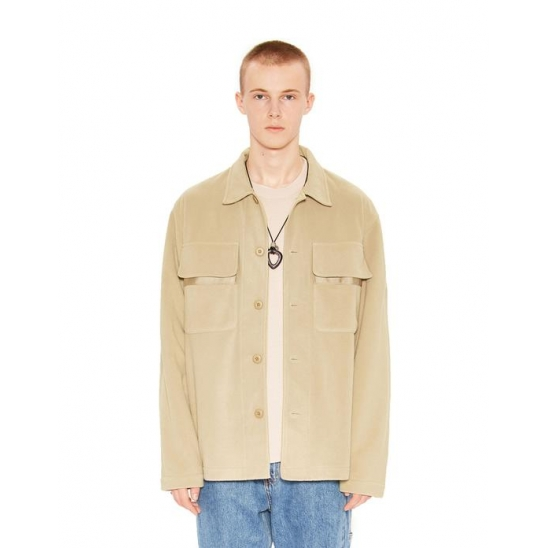 TWO POCKET FLEECE SHIRT beige