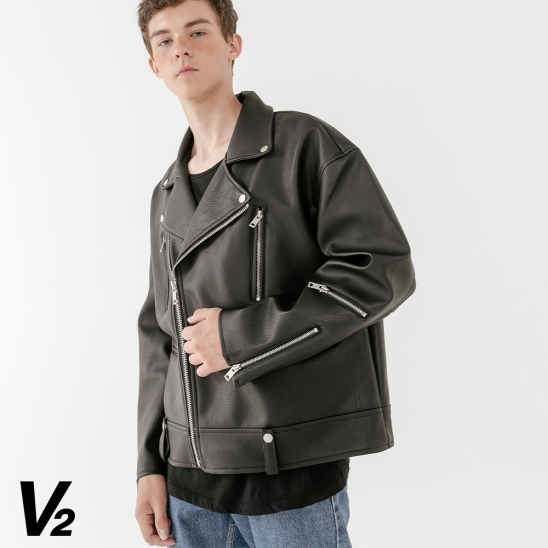 V2 Overfit classical rider jacket