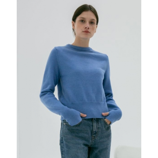 THUMBHOLE CUFF SWEATER BLUE