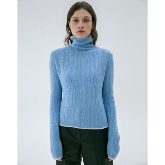 LINE COLORMATCH TURTLENECK KNIT SKY BLUE