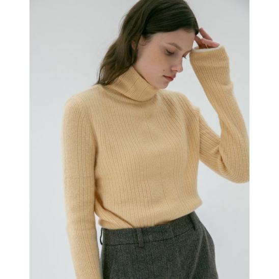 LINE COLORMATCH TURTLENECK KNIT APRICOT