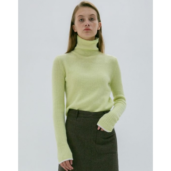 LINE COLORMATCH TURTLENECK KNIT LIME
