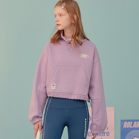 (TS-19553) SHORT HIGH-NECK SWEATSHIRT LAVENDER