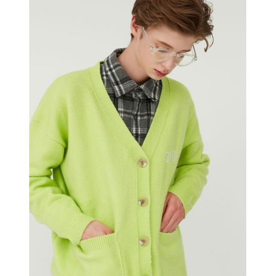 OVERFIT SOFT CARDIGAN_LIME