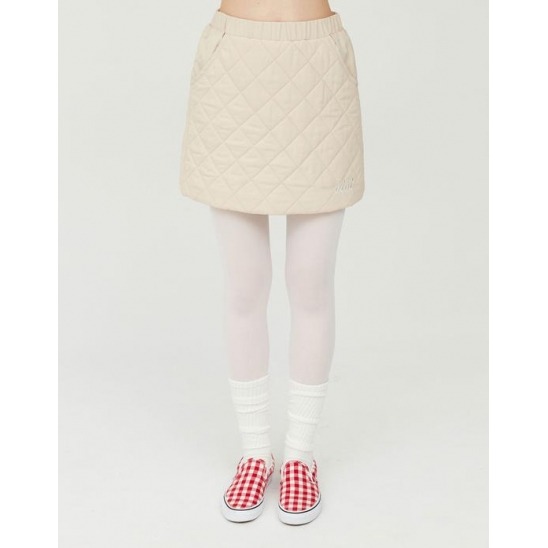 QUILTING MINI SKIRTS _IVORY