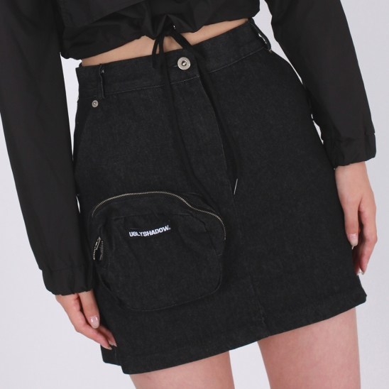 POCKET SKIRT(BLACK)