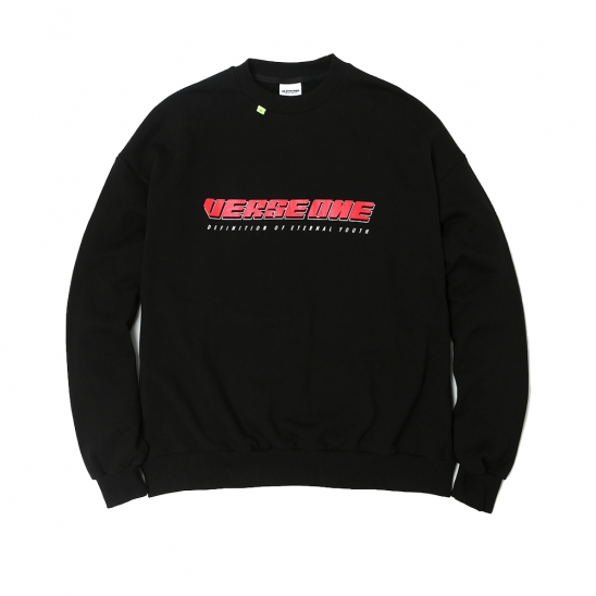 BASIC LOGO SWEATSHIRT CREWNECK BLACK
