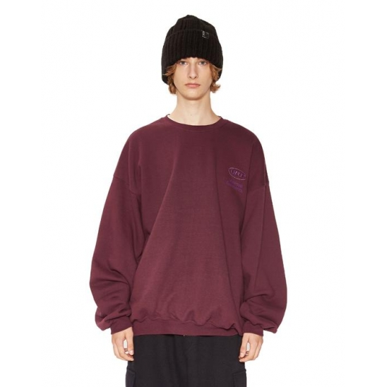 MINI OVAL LOGO SWEATSHIRT burgundy