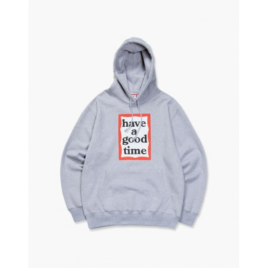 FRAME PULLOVER HOODIE - HEATHER GRAY