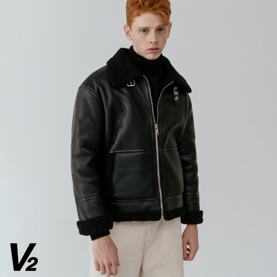 V2 Overfit classical leather mustang