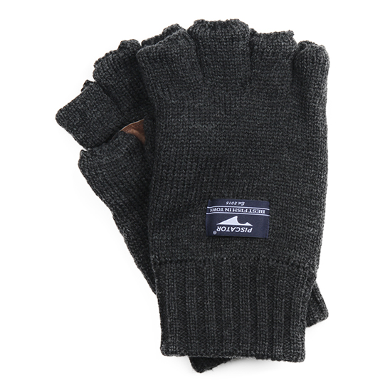Essential Fingerless Gloves Charcoal