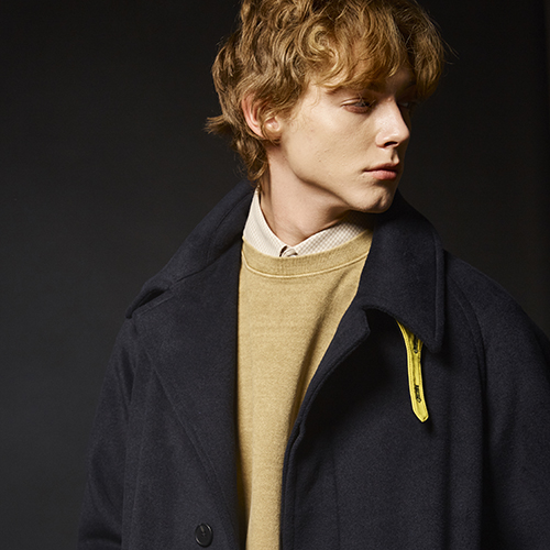 (WOOL) BALMACAAN COAT (D.NAVY)