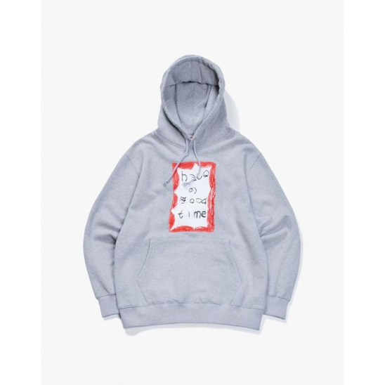 CRAYON FRAME PULLOVER HOODIE - GRAY