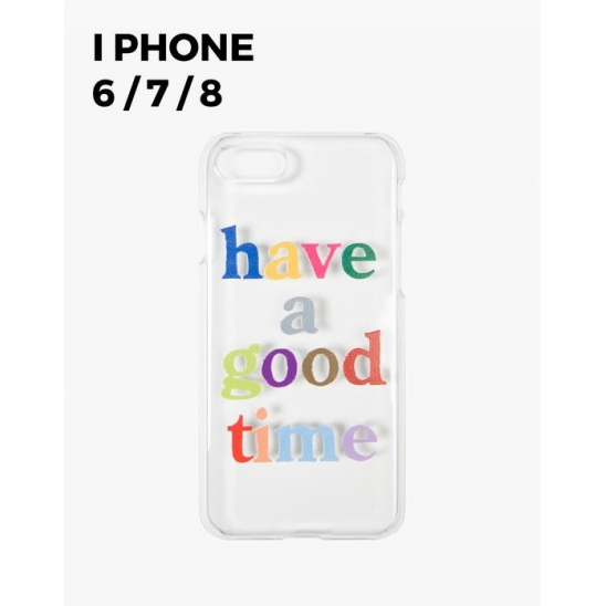COLORFUL LOGO CLEAR IPHONE CASE 6/7/8 - CLEAR