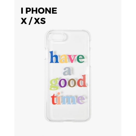 COLORFUL LOGO CLEAR IPHONE CASE X/XS - CLEAR