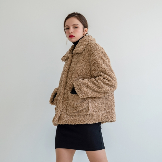 Eco Fur Short Coat
