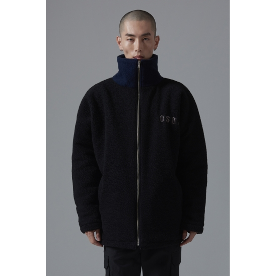 OSD OVERFIT FLEECE JACKET(BLACK)