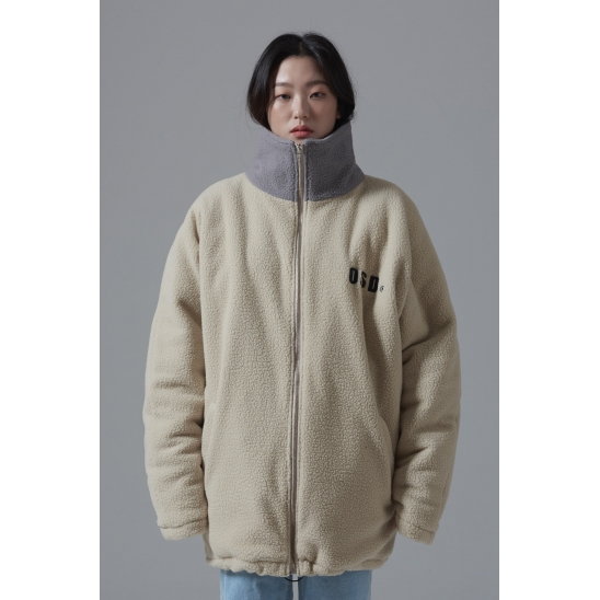 OSD OVERFIT FLEECE JACKET(IVORY)