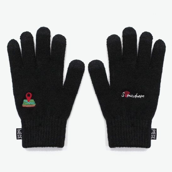 SOMEWHERE SMART GLOVES (BLACK)