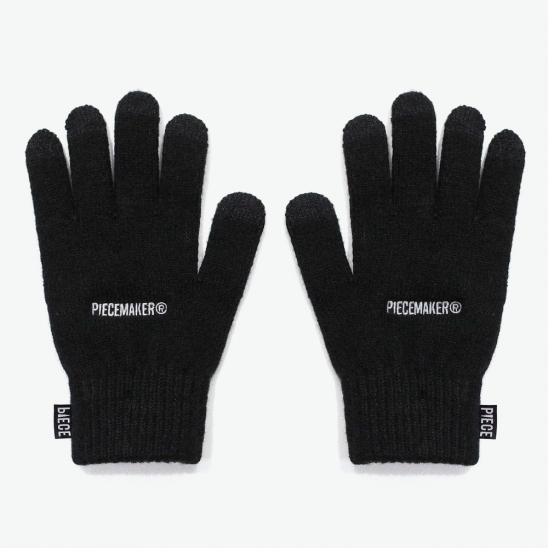 BASIC LOGO SMART GLOVES (BLACK)