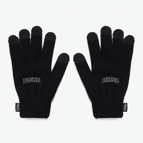 ARCH LOGO SMART GLOVES (BLACK)