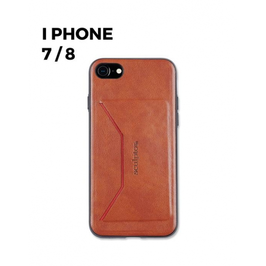 Faux leather Card Holder Phone Case 7/8 [vintage brown]