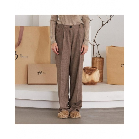 LOGO WIDE LEG PANTS (BEIGE)