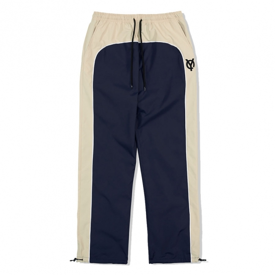PIPING BLOCK TRACK PANTS-NAVY