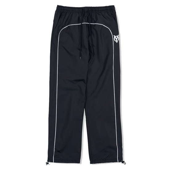 PIPING BLOCK TRACK PANTS-BLACK