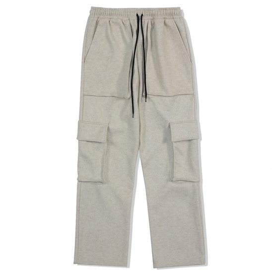 WARM CARGO PANTS-BEIGE