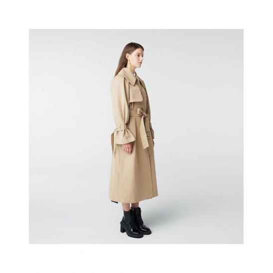 TOSE WIDE COLLAR SINGLE TRENCH COAT