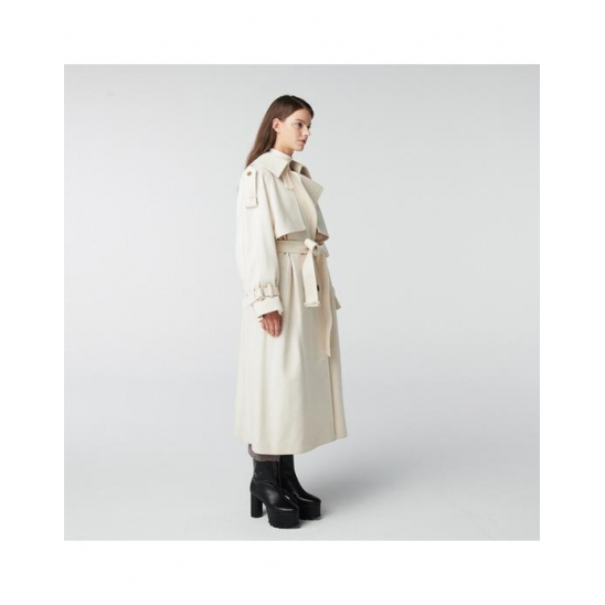 TOSE WOOL TRENCH LONG COAT IVORY