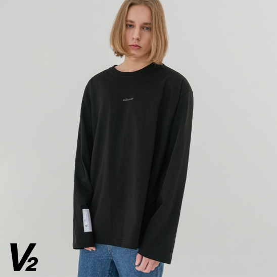 V2 Overfit long sleeve T-shirt_black