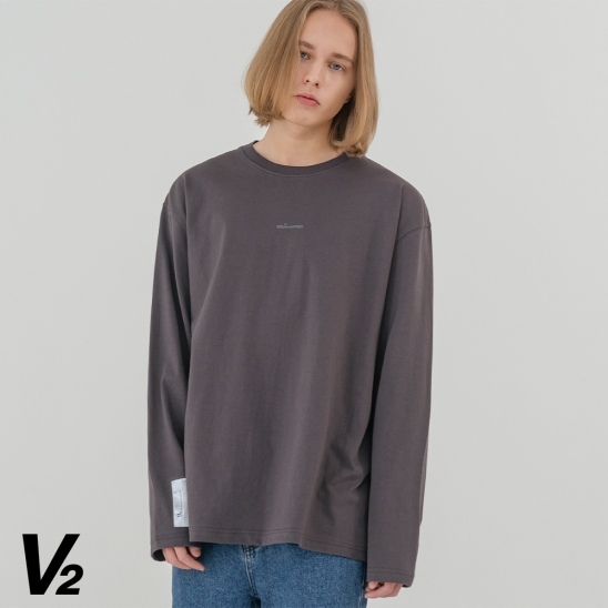 V2 Overfit long sleeve T-shirt_charcoal