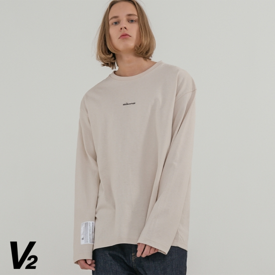 V2 Overfit long sleeve T-shirt_ivory