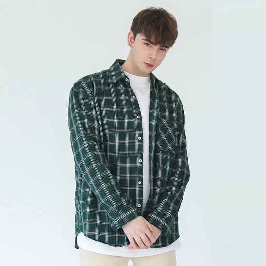 REBEL OVER-FIT CHECK SHIRT (GREEN)
