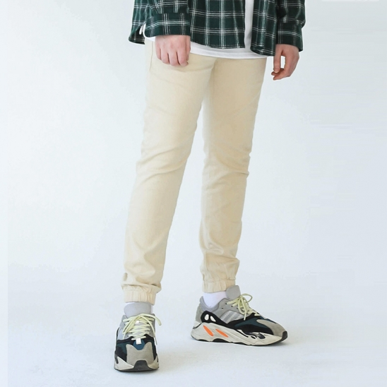 RAVI SPAN JOGGER PANTS (CREAM)