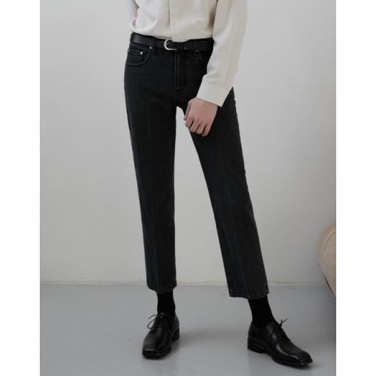 TAILORED CROPPED JEANS BLACK