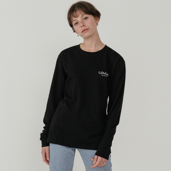 Ladyvolume logo long sleeve T-shirt_black