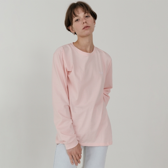 Ladyvolume logo long sleeve T-shirt_pink