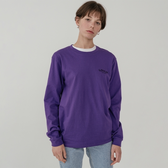 Ladyvolume logo long sleeve T-shirt_purple
