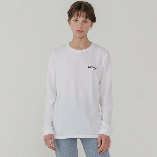 Ladyvolume logo long sleeve T-shirt_white
