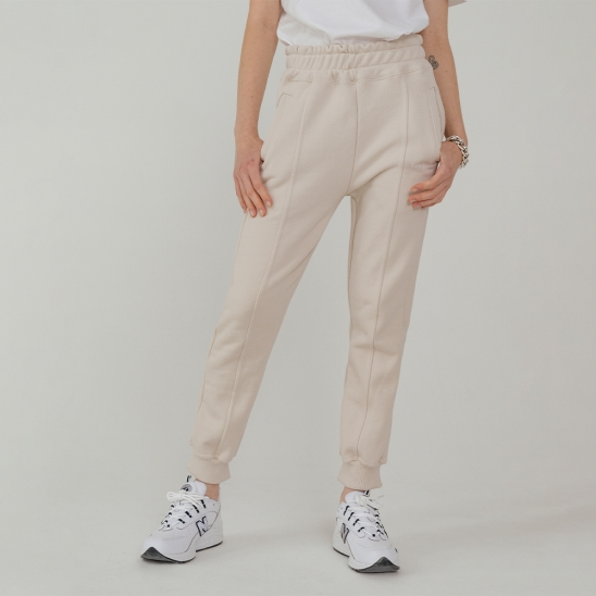 LV Essential logo sweat pants_light beige
