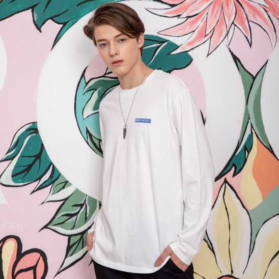 25P OVER FIT WASHING SLEEVE TEE_white [오버핏 워싱 롱슬리브 화이트]