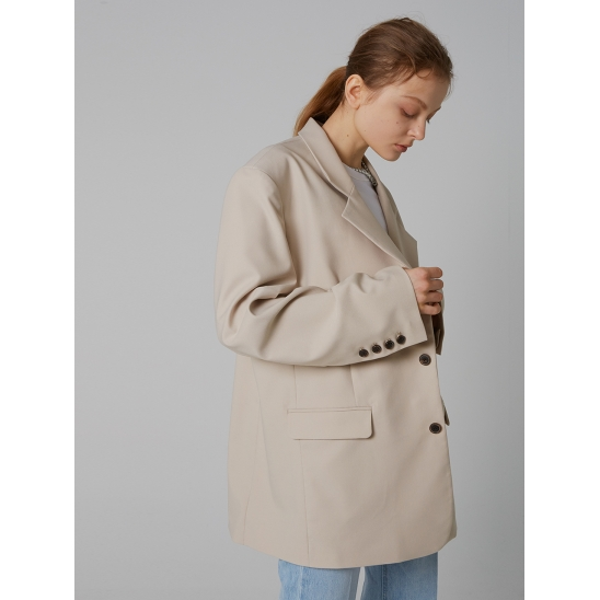 WIDE SQUARE JACKET_IVORY