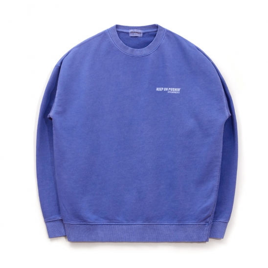 ND Pigment Sweat Shirt (Blue)