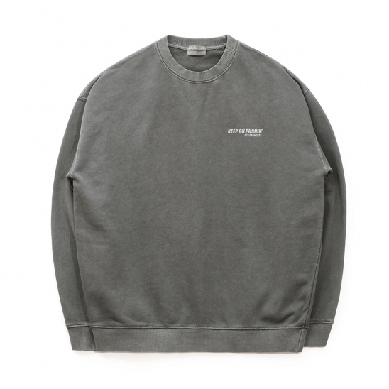 ND Pigment Sweat Shirt (Charcoal)