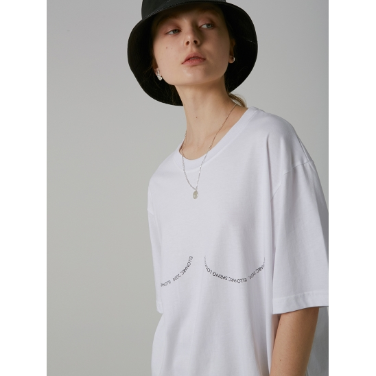 C-CURL T-SHIRTS_WHITE